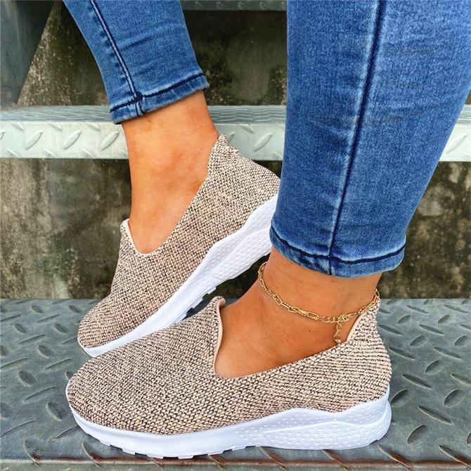 Women's Elastic Flyknit All Seasons Fabric Sneakers