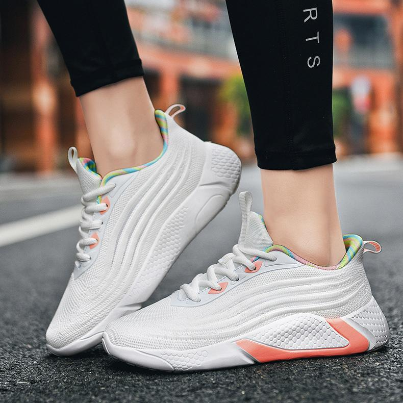 Women's Ins Rainbow Lightweight Running Large Size Sneakers