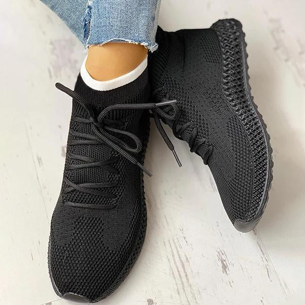Women's Breathable Lace-up Casual Socks Sneakers