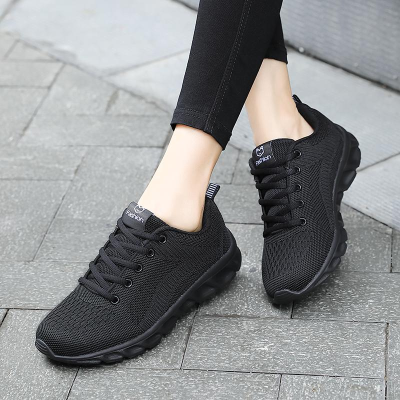 Women Mesh Wearable Soft Sole Running Sneakers Casual Flat Sport Shoes