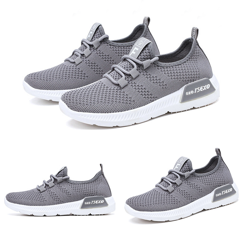 Women's Casual Soft Lace-Up Breathable Flying Woven Sneakers