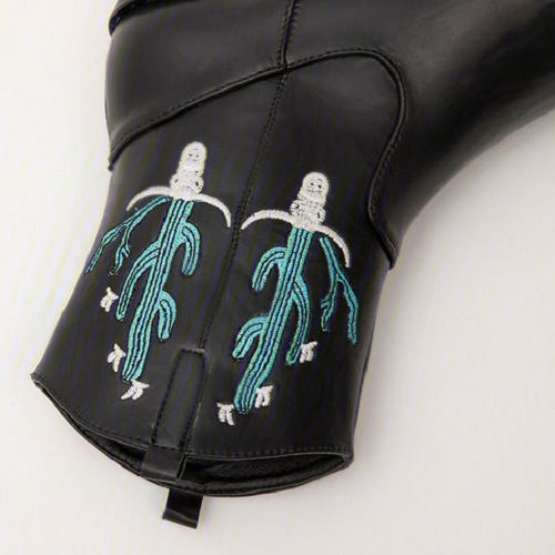 Women's Vintage Western Embroidered High-End Leather Comfortable Short Boots