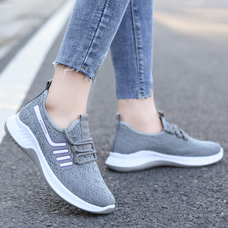 Women Breathable Soft Bottom Sports Sneakers