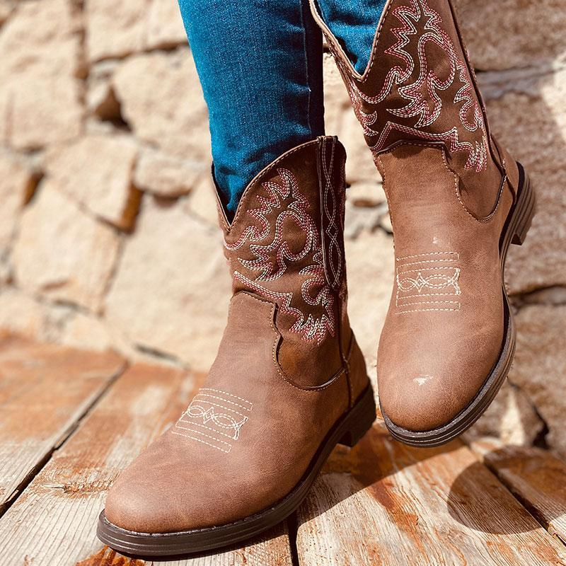 Ladies Vintage Embroidered Boots