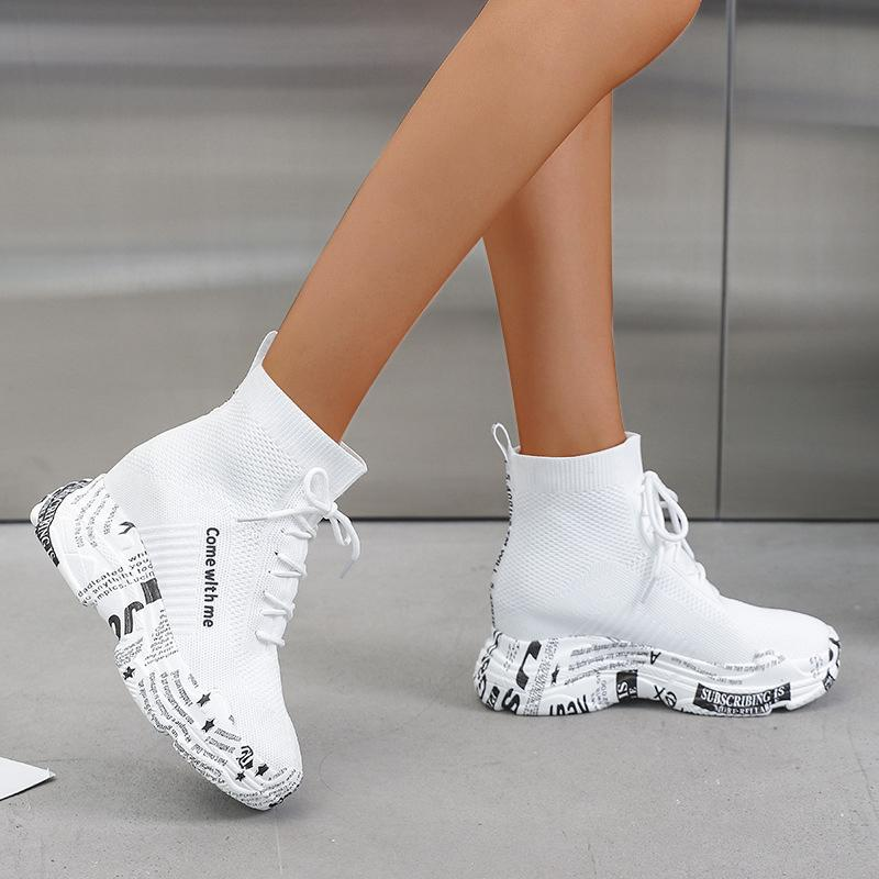 Women Comfy Casual Platform Sneakers Slip-on Shoes