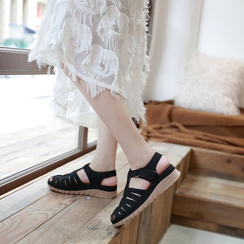 Fashion Wedge Heels Velcro Leisure Sandals