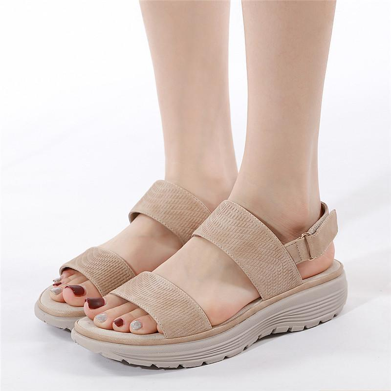 Women Summer Velcro Daily Wedge Heels Sandals