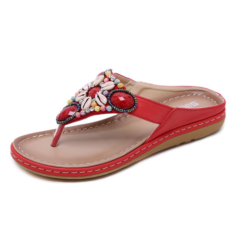 Bohemia Beaded Vintage Leisure Flats