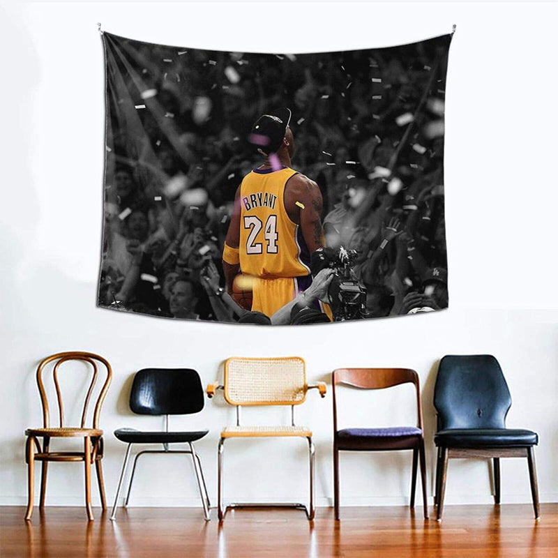 Coolertaste Basketball-Player-Finals 2010 Poster Tapestry Wall Hanging for Living Room Bedroom Dorm Room Home Decor 60 X 51 in