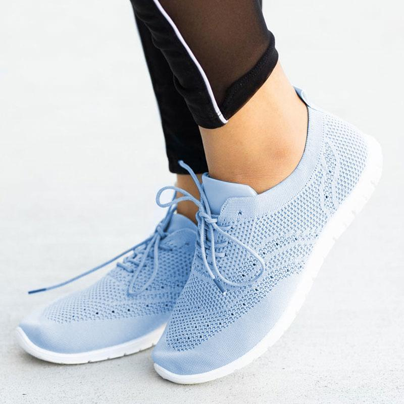 Women's Flying Woven Breathable Non-slip Casual Shoes