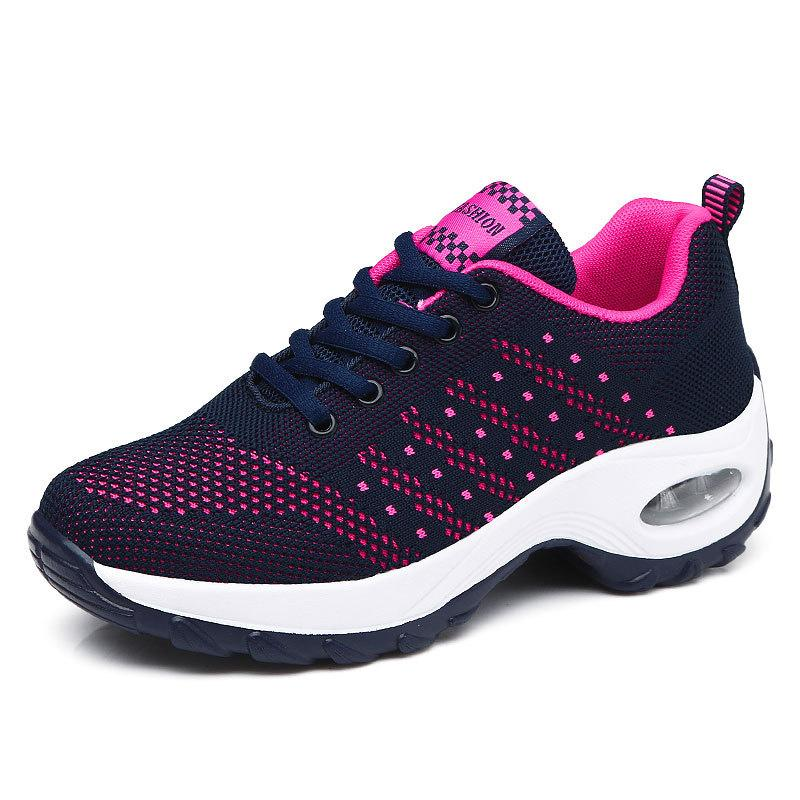 Women's Casual Flying Woven Air Cushion Sneakers