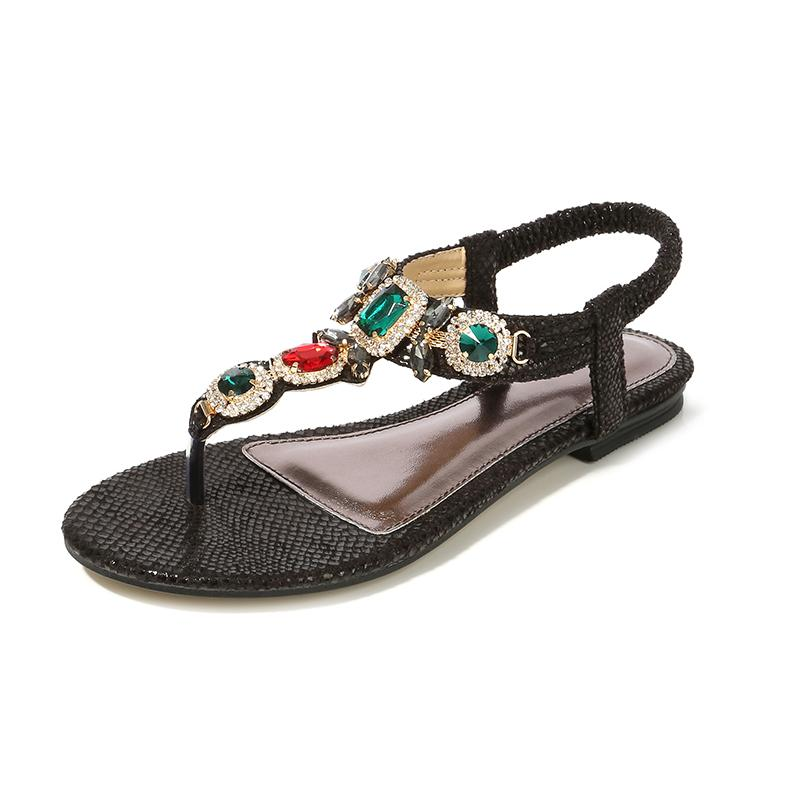 Retro Rhinestone Women Bohemia Sandals