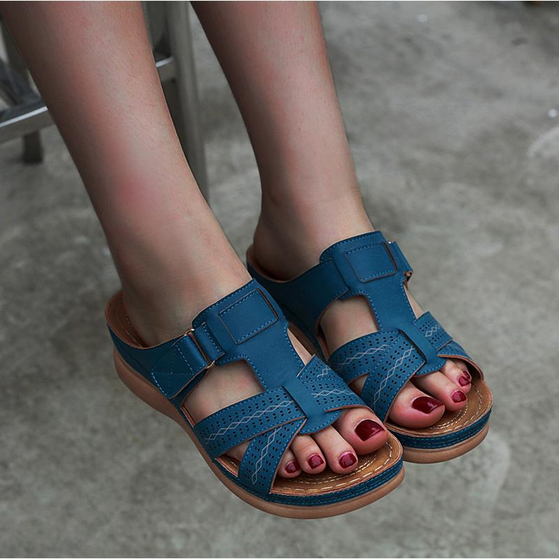 Women Wedge Casual Sandals Comfy Slippers