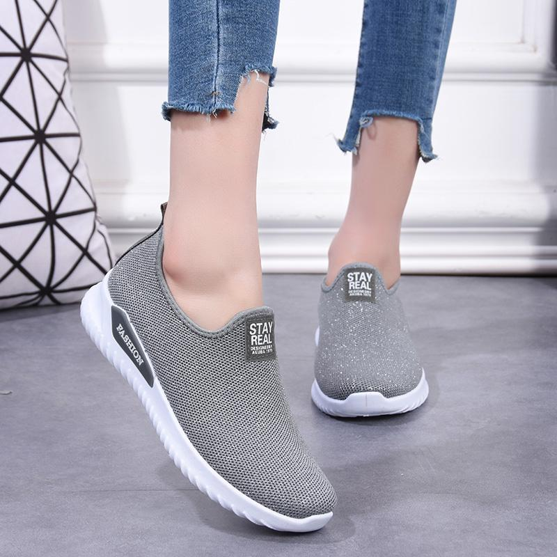 Women Breathable One Pedal Sports Sneakers