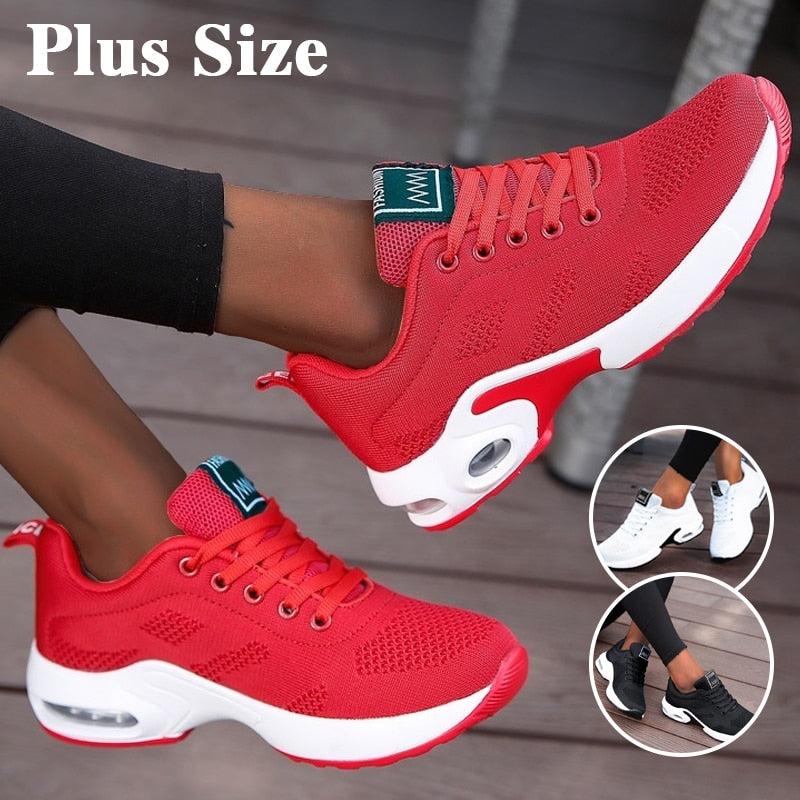 Women Air Cushion Sneakers Breathable Running Shoes