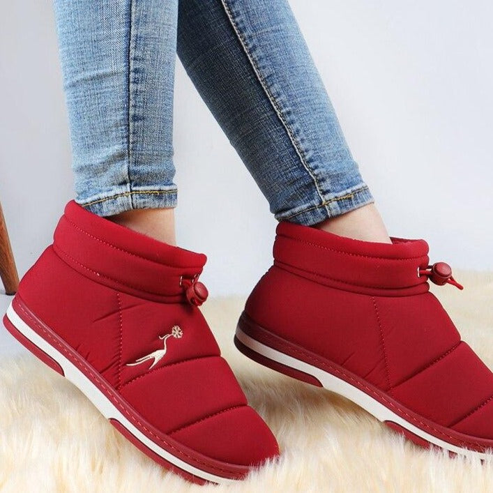 Ankle Boots For Women Winter Waterproof Snow Boots Plush Warm Winter Boots