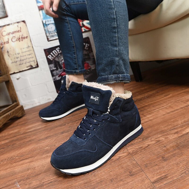 Universal Winter Warm Fur Sneakers Round Toe Casual Shoes for Women/Man