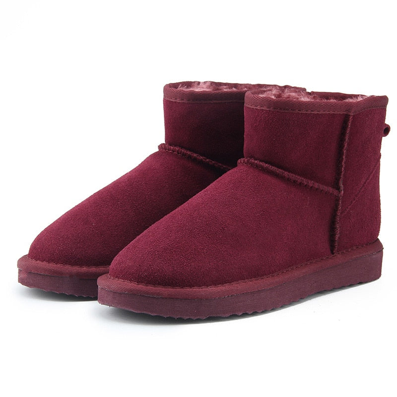 Women Ankle Snow Boots Warm Winter Boots large size US 3-13
