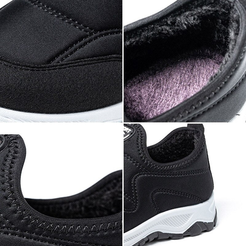 Women Winter Warm Plush Slip-On Casual Vulcanized Sneakers New Non-Slip Platform Cotton Shoe for Woman