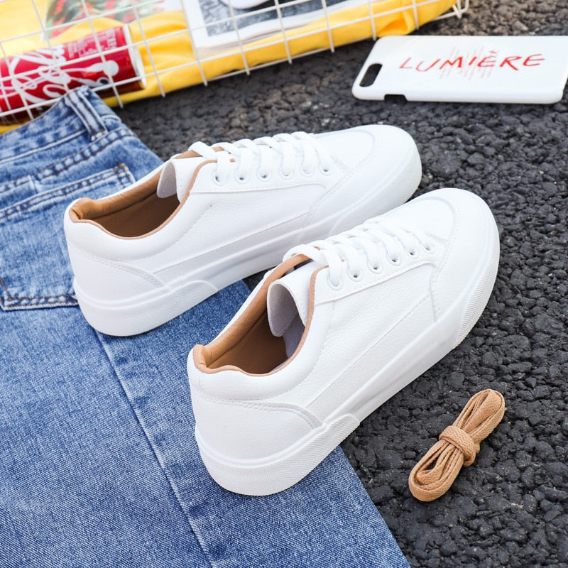 2020  Spring/Autumn Women's Sneakers White Casual Flats Sneakers