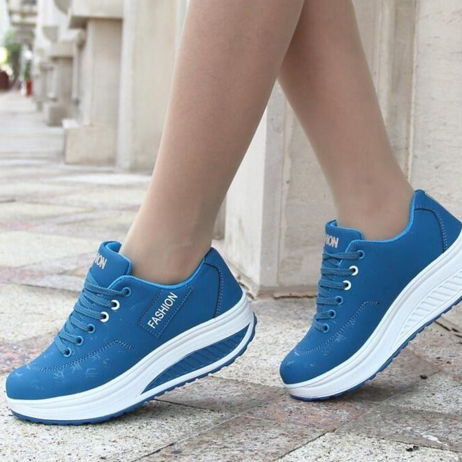 2020 Breathable & Comfy Wedges Platform Vulcanize Sneakers