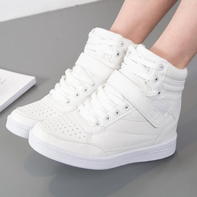 Women Wedge Sports Shoes Female Casual Vulcanized Sneakers