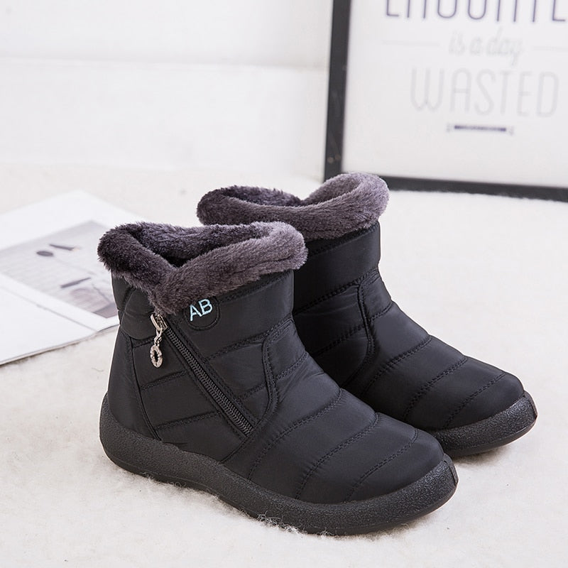 2020 Waterproof Women Snow Boots Warm Winter Boots