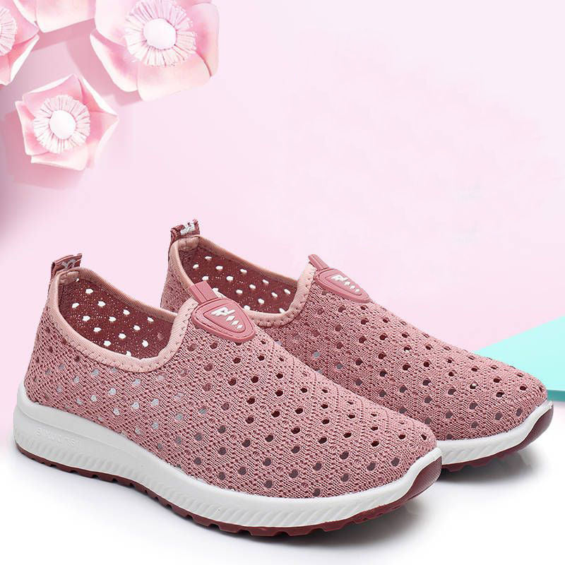 Women Mesh Shoes Women Breathable Hollow Mesh Casual Sneakers