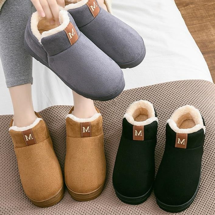 Woman Winter Ankle Boot Warm Plush Rubber Flat Indoor Snow Boots
