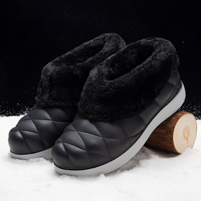 2020 Women Warm Winter Boots New Flock Fur Suede Ankle Snow Boots