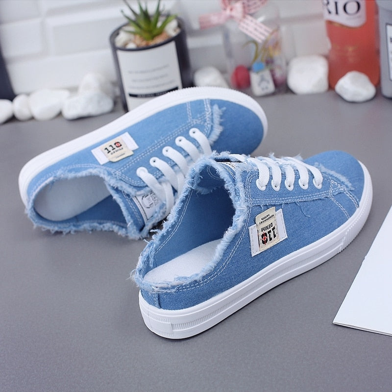 Women Canvas Sneakers Women low upper lace-up casual shoes