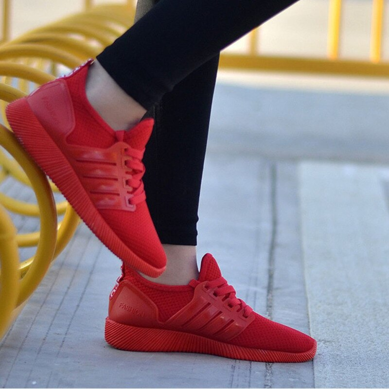 Women Lace-up Running Shoes Woman Breathable High-Quality Light Sneakers