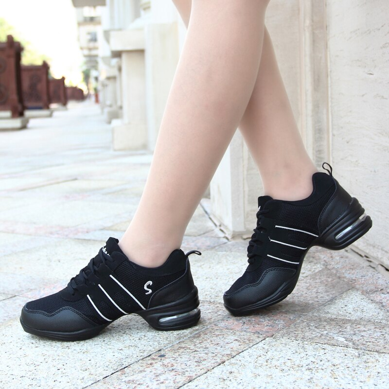 Women Modern Dance Jazz Shoes Soft Outsole Breath Sneakers For Woman