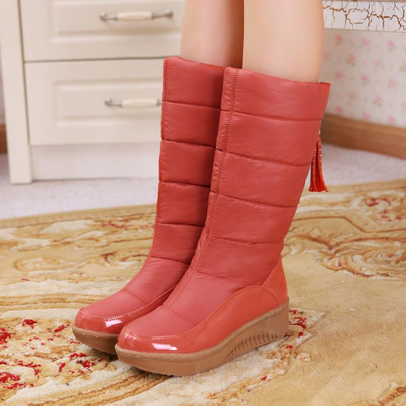 Women Comfy Slip-on Water-proof Warm Snow Boots