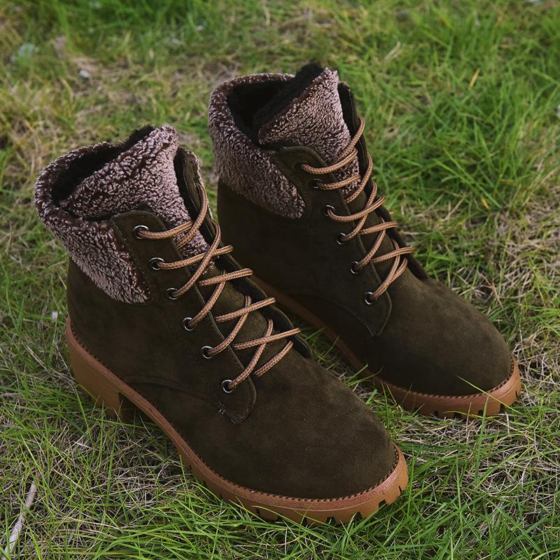 Women Winter Comfy Lace-up Warm Martin Boots