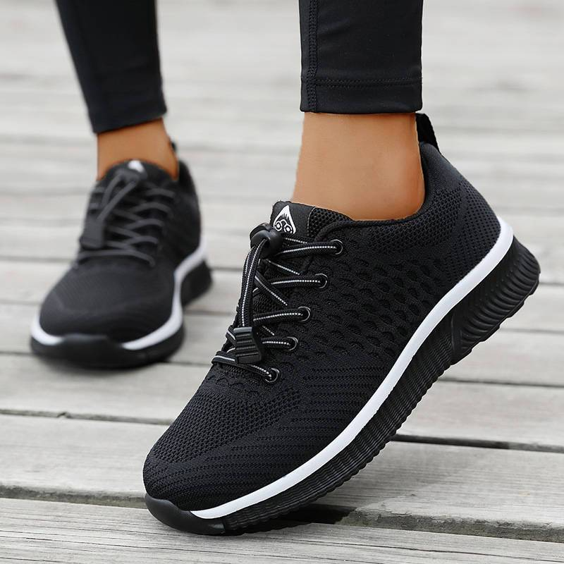 Women Casual Mesh Lace Up Non Slip Walking Shoes Platform Sneakers