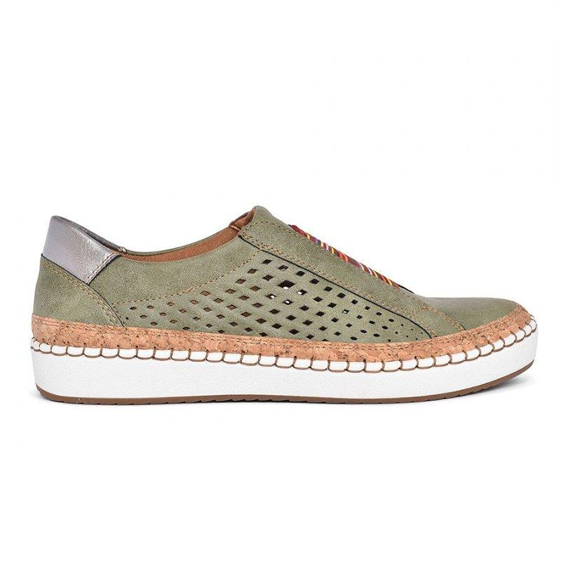 Women Athletic Hollow-Out Flat Heel Casual Slip On Sneakers