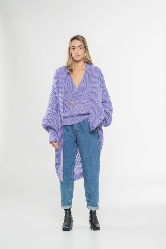 Cardigan lungo in mohair.3328.
