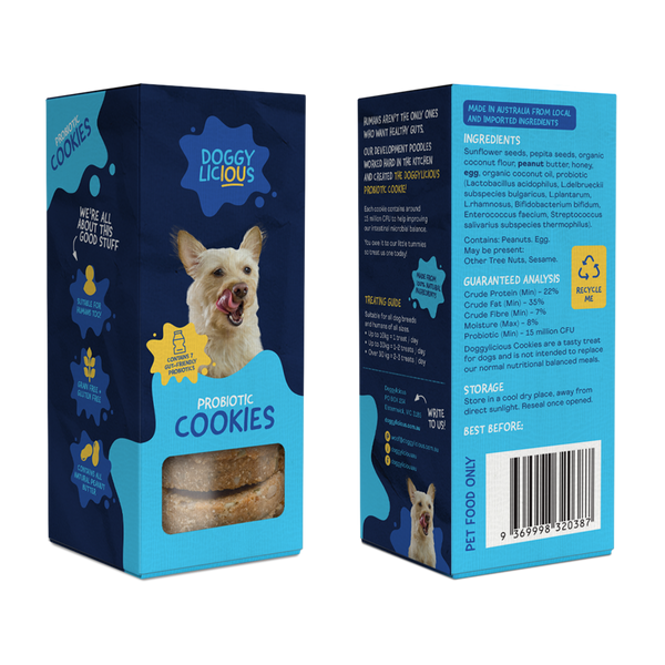 Doggylicious Probiotic Cookies