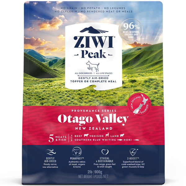 Ziwi Peak Air Dried Provenance Dog Food - 900g Otago Valley
