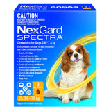 Nexgard Spectra For Dogs 3.6-7.5kg