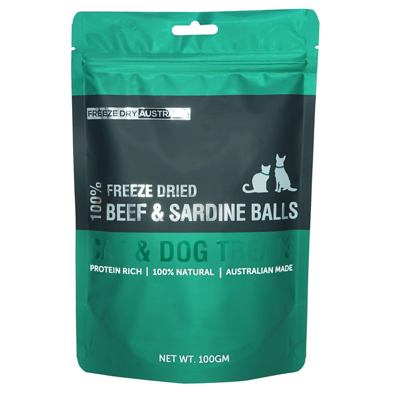 Freeze Dried Beef & Sardine Balls 100G