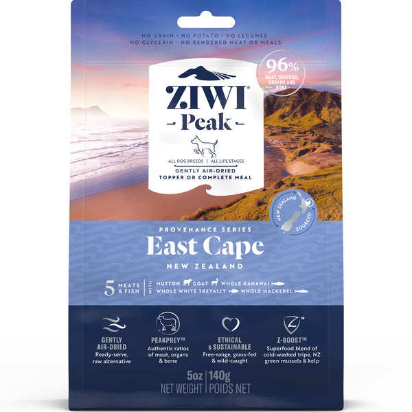 Ziwi Peak Air Dried Provenance Dog Food - 140g East Cape