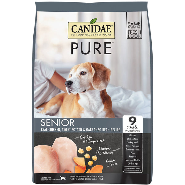 Canidae Dog Pure Senior Chicken Sweet Pot & Bean 10.8kg
