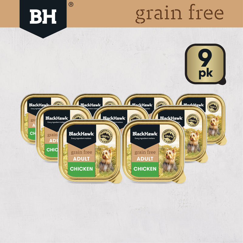 Black Hawk Grain Free Chicken 9x100g