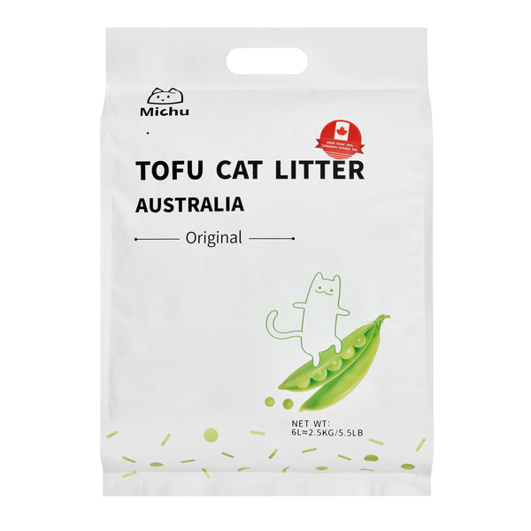 Furrytail Michu Natural Clumping Tofu Cat Litter 2.5kg - Original
