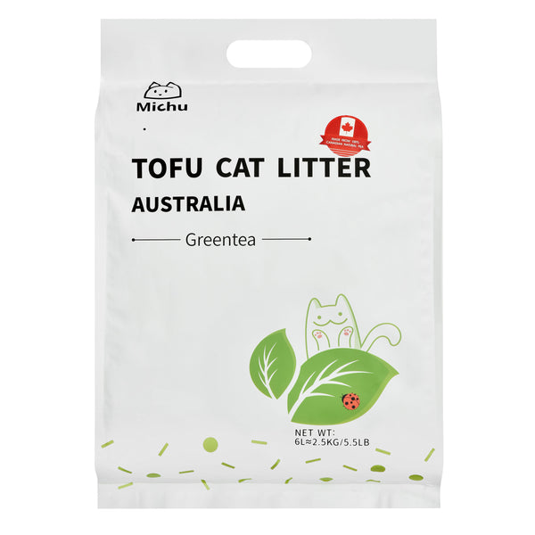 Furrytail Michu Natural Clumping Tofu Cat Litter 2.5kg- Green Tea