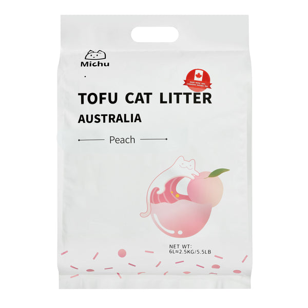 Furrytail Michu Natural Clumping Tofu Cat Litter 2.5kg - Peach