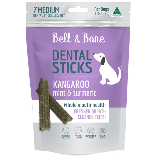 Kangaroo, Mint and Turmeric Dental Sticks