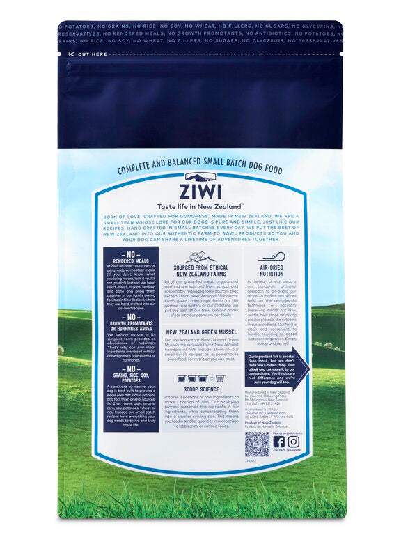 Ziwi Peak Air Dried Dog Food - 454g Lamb